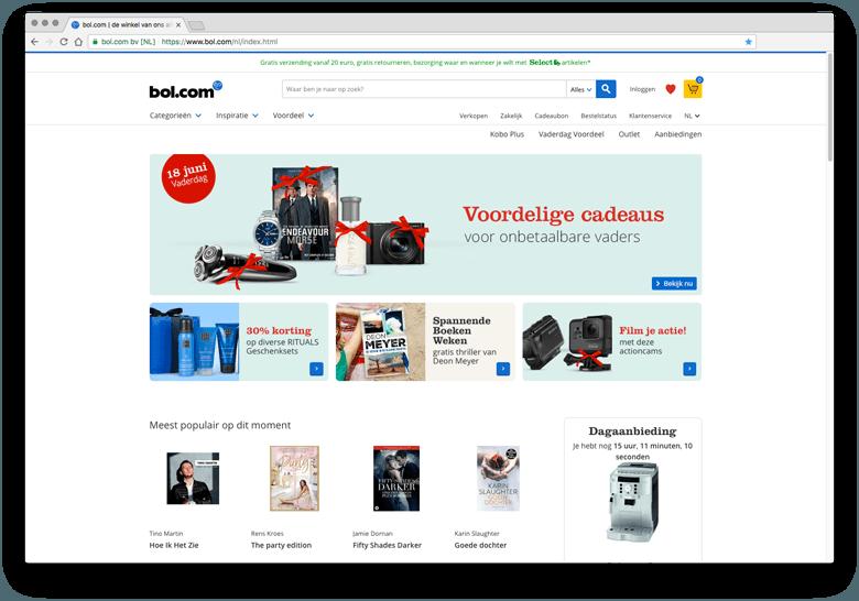 Bol.com - inspiratie eCommerce