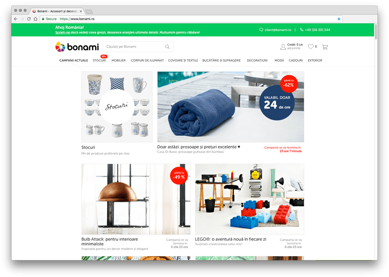 Bonami - inspiratie eCommerce