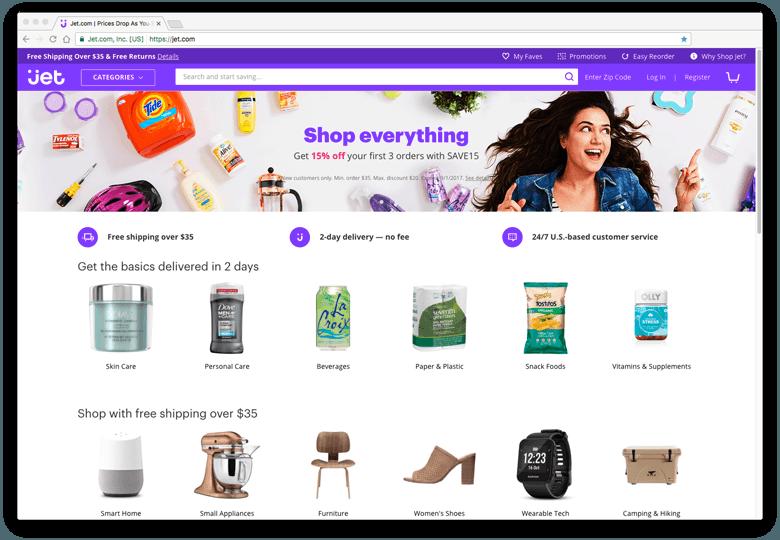 JET.com - inspiratie eCommerce