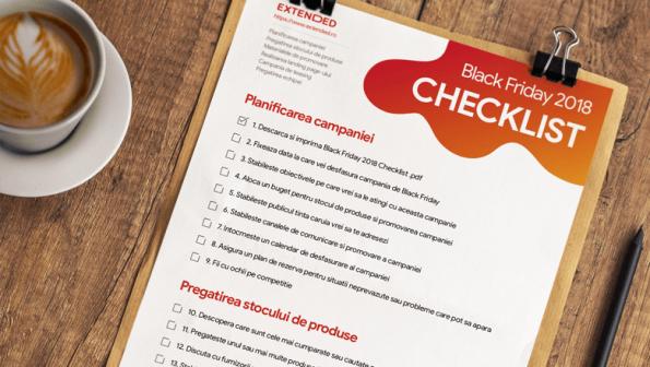Black Friday 2018 Checklist – 40 de puncte pe care sa le urmezi pentru a te pregati pentru campanie